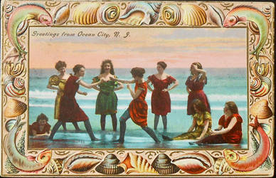 Vintage New Jersey - Greetings from Ocean City by Yesterdays-Paper