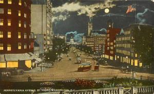 Night Scene Postcards - Washington DC by Yesterdays-Paper