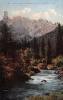 Vintage California - Castle Crags by Yesterdays-Paper
