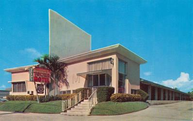 Vintage Motels - Towne Motel, Miami FL by Yesterdays-Paper
