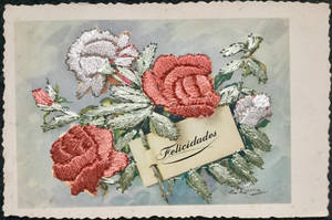 Felicidades Embroidered Roses by Yesterdays-Paper