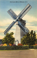 Vintage South Dakota - Old Dutch Windmill by Yesterdays-Paper