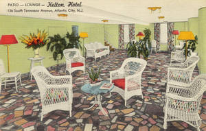Vintage New Jersey - Patio Lounge, Atlantic City by Yesterdays-Paper