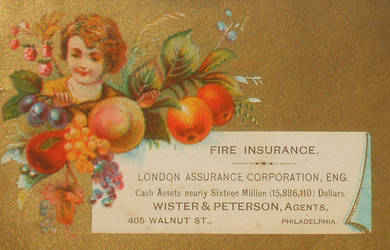 Victorian Advertising - Fire Insurance by Yesterdays-Paper