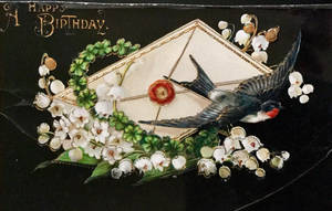 Glossy Birdmail Birthday Greetings by Yesterdays-Paper
