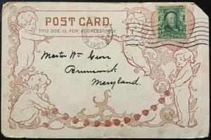 Antique Postcard Back 052 - Sugar Lumps Cherubs by Yesterdays-Paper