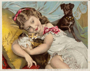 Victorian Advertising -  Little Cuties by Yesterdays-Paper