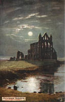 Night Scene Postcards - Whitby Abbey Ruins by Yesterdays-Paper