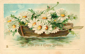 Flowers of Springtime - Daisy Boat by Yesterdays-Paper