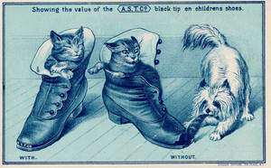 Victorian Advertising - Napping Neko Nabbed by Yesterdays-Paper