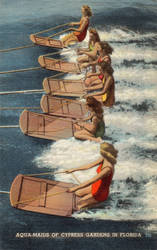 Vintage Florida - Aqua-Maids of Cypress Gardens by Yesterdays-Paper