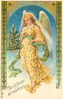 Evergreen Angel - Gold by Yesterdays-Paper
