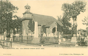 Vintage Delaware - Old Swedes Church + Cemetery by Yesterdays-Paper