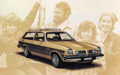 1976 Pontiac 2 Door Astare Safari Wagon by Yesterdays-Paper