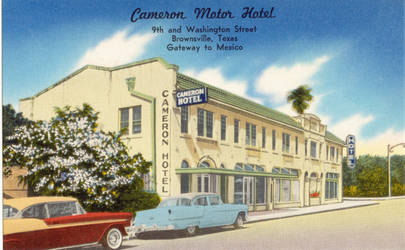 Vintage Motels - Gateway To Mexico, Brownsville TX by Yesterdays-Paper