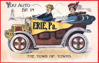 Vintage Pennsylvania - You Auto Be In ERIE by Yesterdays-Paper