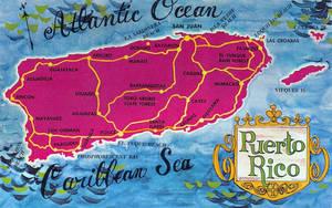 Mid-Century Map Postcard - Hija Del Mar y El Sol by Yesterdays-Paper