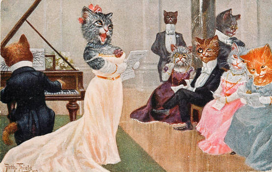 A Mewsical Party by Yesterdays-Paper