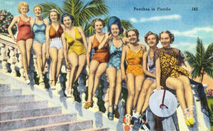 Vintage Florida - Peaches On The Beaches by Yesterdays-Paper