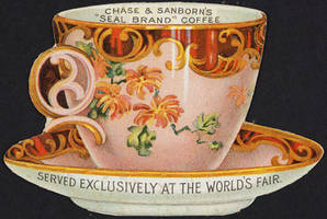 Vintage Advertising - 1904 World's Fair Coffee Cup by Yesterdays-Paper