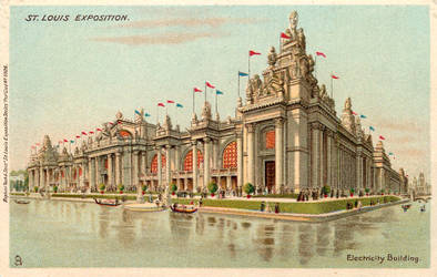 The Palace of Electricity - 1904 World's Fair by Yesterdays-Paper