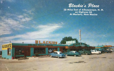 Vintage Shopping - Blackie's Place, Rte. 66 by Yesterdays-Paper