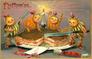 Goblin' Up The Sponge Cake by Yesterdays-Paper