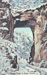 Vintage Virginia - Natural Bridge in Winter by Yesterdays-Paper