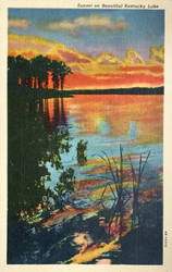 Vintage Kentucky - Sunset on Kentucky Lake by Yesterdays-Paper
