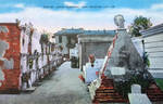 Vintage New Orleans - Old St. Louis Cemetery by Yesterdays-Paper