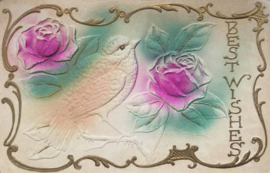 Garden Impressions - Robin and Roses by Yesterdays-Paper
