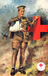 War Veteran and The Red Cross by Yesterdays-Paper