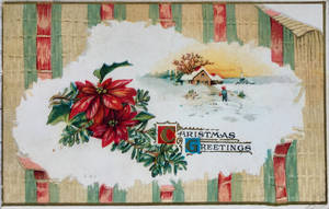 Vintage Christmas - Poinsettia Peel Back by Yesterdays-Paper