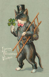 Vintage Christmas - Lucky Chimney Sweep by Yesterdays-Paper