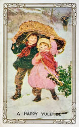 Vintage Christmas - Happy Faces by Yesterdays-Paper