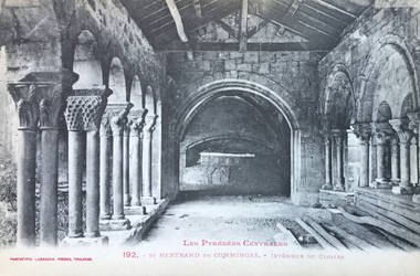 Vintage France - Medieval Cloister, Pyrenees by Yesterdays-Paper