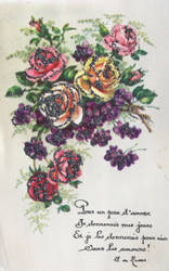 Doux Sentiments Floraux - Roses et Violettes by Yesterdays-Paper