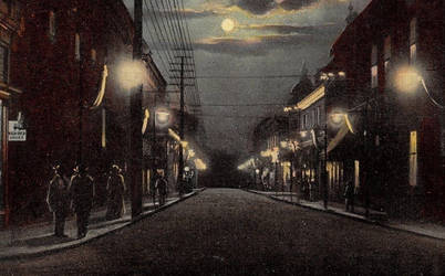 Night Scene Postcards - Excelsior Springs, MO by Yesterdays-Paper