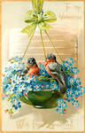 Bullfinches In Blue by Yesterdays-Paper