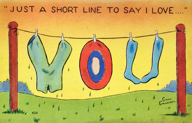 Just A Short Line To Say I Love Y O U by Yesterdays-Paper