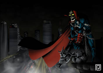 I love Spawn (color version) by JoseRealArt