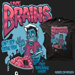 Live Brains by JoseRealArt