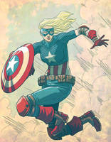 Female Captain America by JoseRealArt