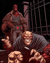 Hellboy and Etrigan by JoseRealArt