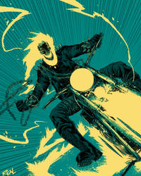 Ghost Rider by JoseRealArt