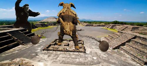 King Kong vs King Caesar by Nagoda