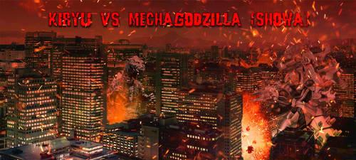 Kiryu vs Mechagodzilla Showa by Nagoda