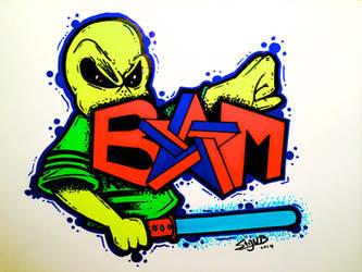 BAM Alien Graffiti Style by Stijn B by StijnBes