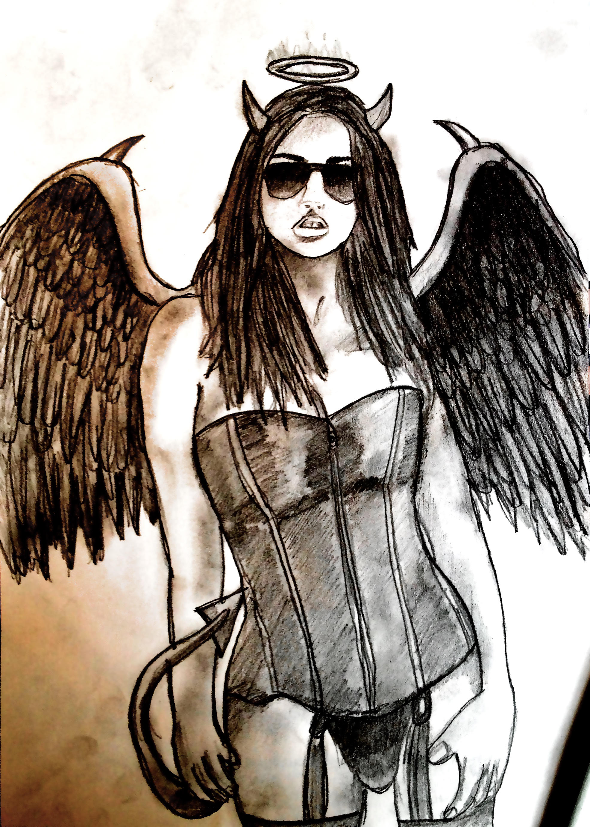 AngelDevil Girl by Stijn B by StijnBes