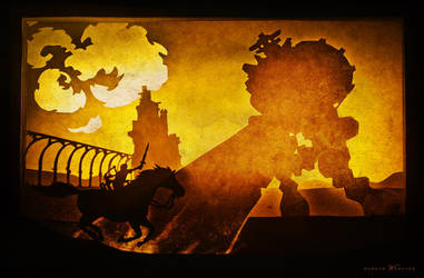 PaperCut - Tribute to Shadow of the Colossus by CDPmediendesign